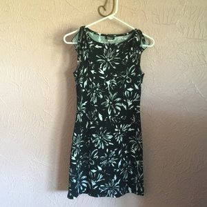 Taboo Summer Dress Size S Black White Floral